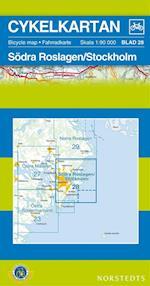 Södra Roslagen / Stockholm  1:90 000 (Cykelkartan, nr. 28)