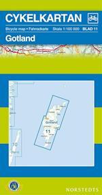 Gotland  1:100 000 (Cykelkartan, nr. 11)