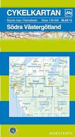 Södra Västergötland  1:90 000 (Cykelkartan, nr. 13)