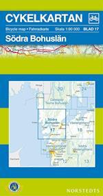 Södra Bohuslän  1:90 000 (Cykelkartan, nr. 17)