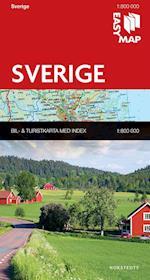 Sverige EasyMap  1:800 000 (EasyMap)