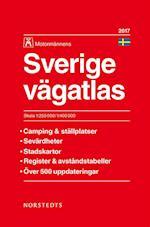 Sverige vägatlas 2017  (1:250 000/1:400 000) (m. bykort) (26.uppl.)