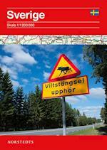 Sverige oversigtskort  1:1 200 000