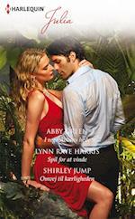 I regnskovens hede/Spil for at vinde/Omvej til kærligheden af Abby Green, Lynn Raye Harris, Shirley Jump