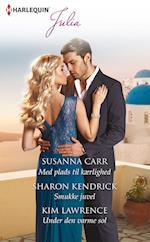 Med plads til kærlighed/Smukke juvel/Under den varme sol af Susanna Carr, Kim Lawrence, Sharon Kendrick