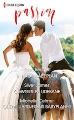 En storslået plan/Cowgirl på udebane/Oliemilliardærens babyplaner af Silver James, Jules Bennett, Michelle Celmer