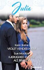 Violet vender hjem/Kærlighed klarer alt, Braddy af Sue MacKay, Karin Baine