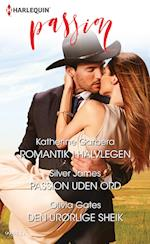 Romantik i halvlegen/Passion uden ord/Den urørlige sheik af Katherine Garbera, Olivia Gates, Silver James