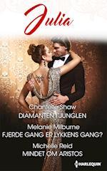 Diamanten i junglen/Fjerde gang er lykkens gang?/Mindet om Aristos af Chantelle Shaw, Michelle Reid, Melanie Milburne