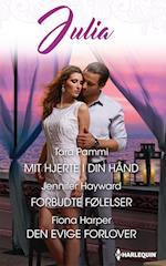 Mit hjerte i din hånd/Forbudte følelser/Den evige forlover af Fiona Harper, Jennifer Hayward, Tara Pammi