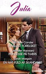 Håbløst forelsket/Prinsesse på tværs/En nat fuld af skandaler af Michelle Conder, Sarah Morgan, Jennifer Hayward