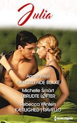 Fængslende blikke/Ubrudte løfter/Kærlighed i Ravello af Annie West, Rebecca Winters, Michelle Smart