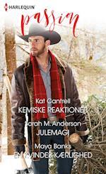 Kemiske reaktioner/Julemagi/En kvindes kærlighed af Kat Cantrell, Maya Banks, Sarah M. Anderson