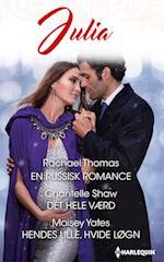 En russisk romance/Det hele værd/Hendes lille, hvide løgn af Rachael Thomas, Maisey Yates, Chantelle Shaw