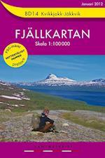 Kvikkjokk - Jäkkvik  1:100 000 (Fjällkartan, nr. 14)