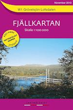 Grövelsjön - Lofsdalen  1:100 000  (Pretex) (Fjällkartan, nr. 1)