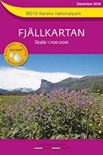 Sareks nationalpark  1:100 000  (Pretex) (Fjällkartan, nr. 10)
