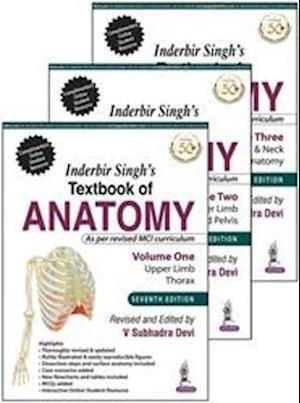Inderbir Singh's Textbook of Anatomy, Three Volume Set