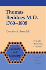 Thomas Beddoes M.D. 1760-1808 (CHEMISTS AND CHEMISTRY)