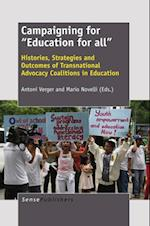 Campaigning for &quote;Education for all&quote;