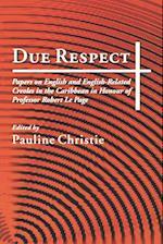 Due Respect