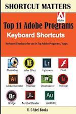 Top 11 Adobe Programs Keyboard Shortcuts.