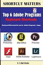Top 6 Adobe Programs Keyboard Shortcuts.