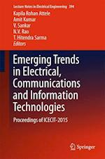 Emerging Trends in Electrical, Communications and Information Technologies (Lecture Notes in Electrical Engineering, nr. 394)