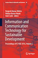 Information and Communication Technology for Sustainable Development (Lecture Notes in Networks and Systems, nr. 10)