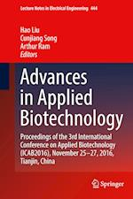 Advances in Applied Biotechnology (Lecture Notes in Electrical Engineering, nr. 444)