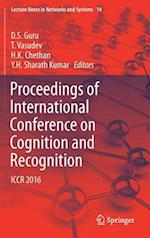 Proceedings of International Conference on Cognition and Recognition (Lecture Notes in Networks and Systems, nr. 14)