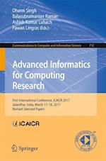 Advanced Informatics for Computing Research : First International Conference, ICAICR 2017, Jalandhar, India, March 17-18, 2017, Revised Selected Paper