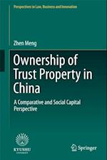 Ownership of Trust Property in China (Perspectives in Law Business and Innovation)