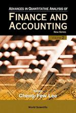 ADVANCES IN QUANTITATIVE ANALYSIS OF FINANCE AND ACCOUNTING - NEW SERIES (VOL. 2) (Advances In Quantitative Analysis Of Finance Accounting)