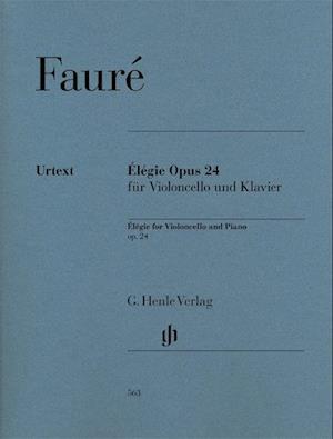 Élégie Opus 24 für Violoncello und Klavier