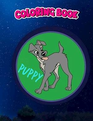 Coloring Book: Puppy Tramp Sticker, Children Coloring Book, 100 Pages to Color
