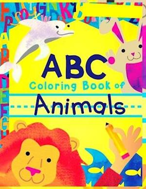 animals abc coloring book of
