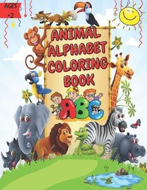 Animal Alphabet Coloring Book: Easy and Delightful Educational Coloring Book