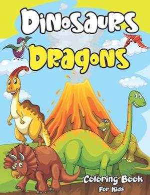 Dinosaur and Dragon Coloring Book for Kids