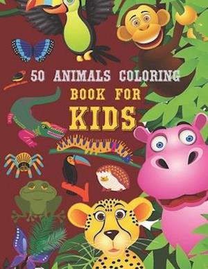 50 Animals coloring book for kids