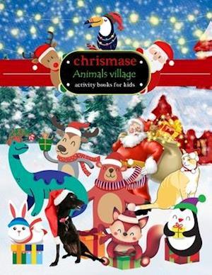 chrismase Animals village activity books for kids