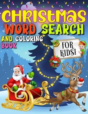 Christmas Word Search And Coloring Book For Kids