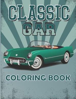 Classic Car Coloring Book