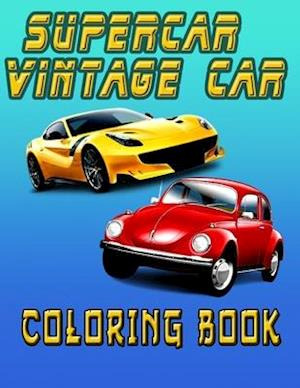 Supercar Vintage Car Coloring Book