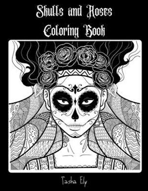Skulls and Roses Coloring Book