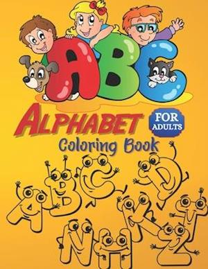 Alphabet coloring book for adults