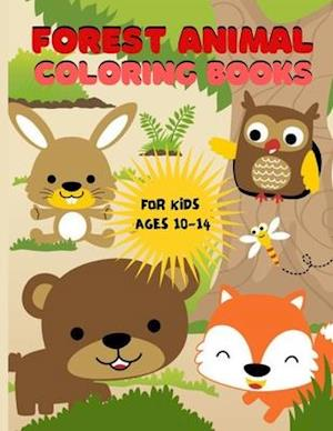 Forest animal coloring books for kids ages 10-14