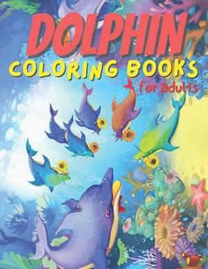 Dolphin coloring books for adults