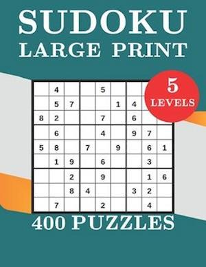 Sudoku Large Print 400 Puzzles 5 levels