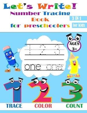 Let's Write! Number Tracing Book for preschoolers